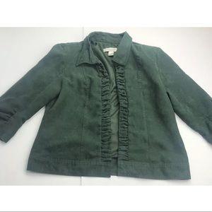 Christopher & Banks Dark Green Jacket Sz M